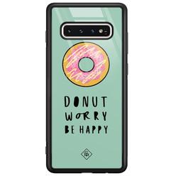 Casimoda Samsung Galaxy S10 glazen hardcase - Donut worry