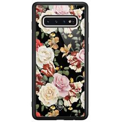 Casimoda Samsung Galaxy S10 glazen hardcase - Flowerpower