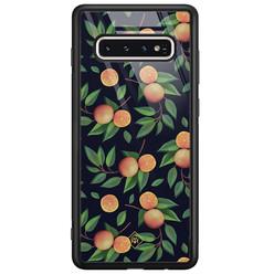 Casimoda Samsung Galaxy S10 glazen hardcase - Orange lemonade