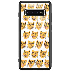 Casimoda Samsung Galaxy S10 glazen hardcase - Got my leopard