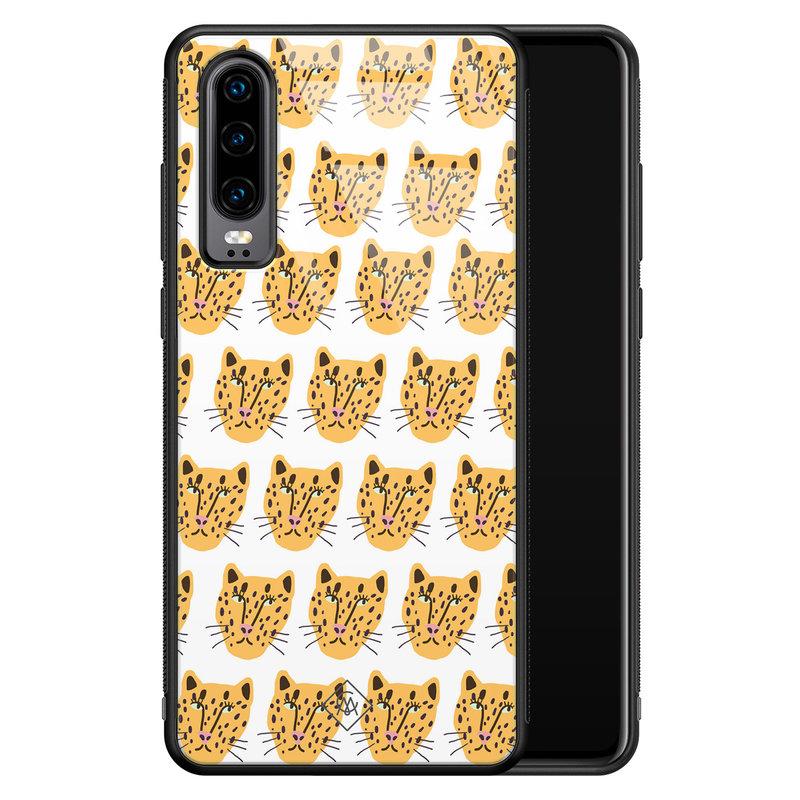 Casimoda Huawei P30 glazen hardcase - Got my leopard