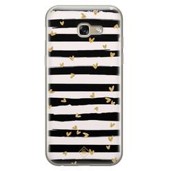 Casimoda Samsung Galaxy A5 2017 siliconen hoesje - Hart streepjes