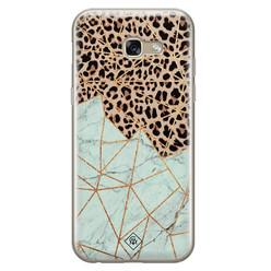 Casimoda Samsung Galaxy A5 2017 siliconen hoesje - Luipaard marmer mint