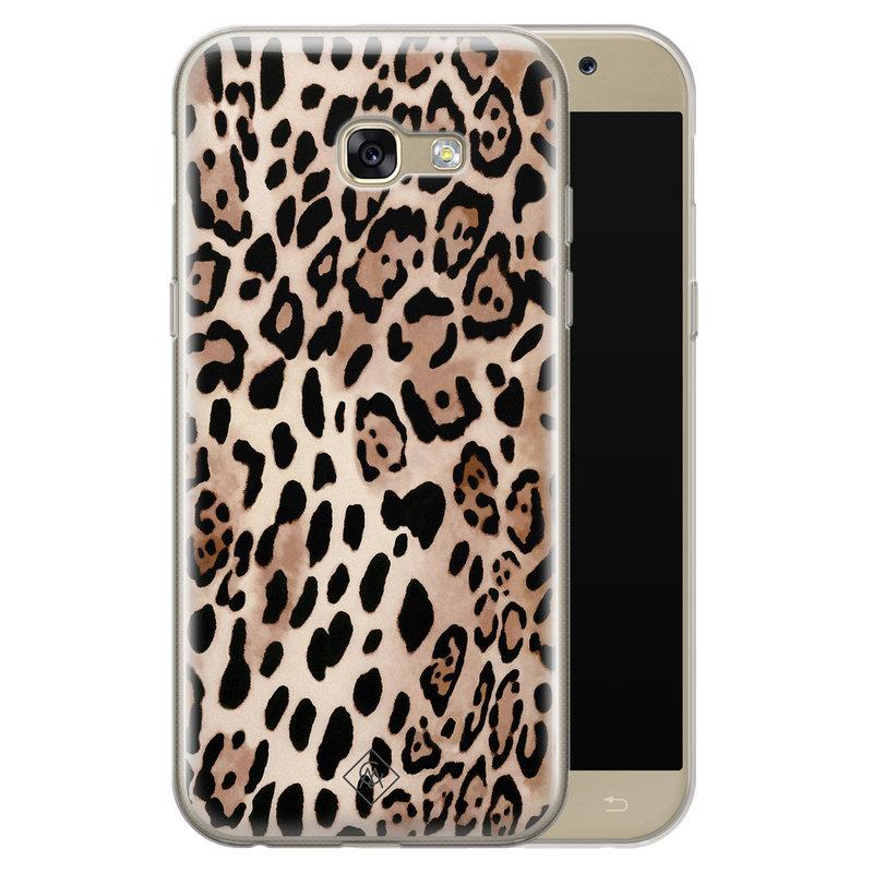 Casimoda Samsung Galaxy A5 2017 siliconen hoesje - Golden wildcat