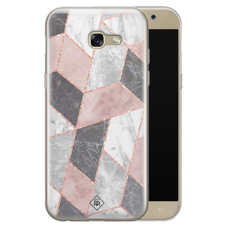 Casimoda Samsung Galaxy A5 2017 siliconen telefoonhoesje - Stone grid