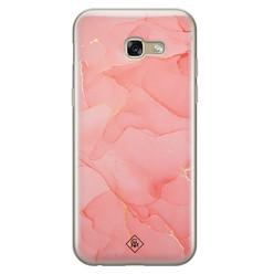 Casimoda Samsung Galaxy A5 2017 siliconen hoesje - Marmer roze