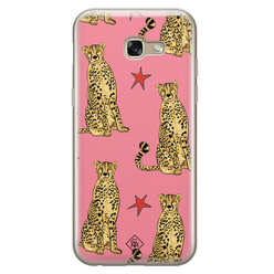 Casimoda Samsung Galaxy A5 2017 siliconen hoesje - The pink leopard