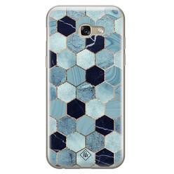 Casimoda Samsung Galaxy A5 2017 siliconen hoesje - Blue cubes