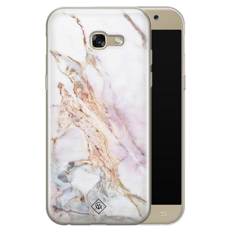 Casimoda Samsung Galaxy A5 2017 siliconen telefoonhoesje - Parelmoer marmer