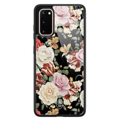 Casimoda Samsung Galaxy S20 glazen hardcase - Flowerpower
