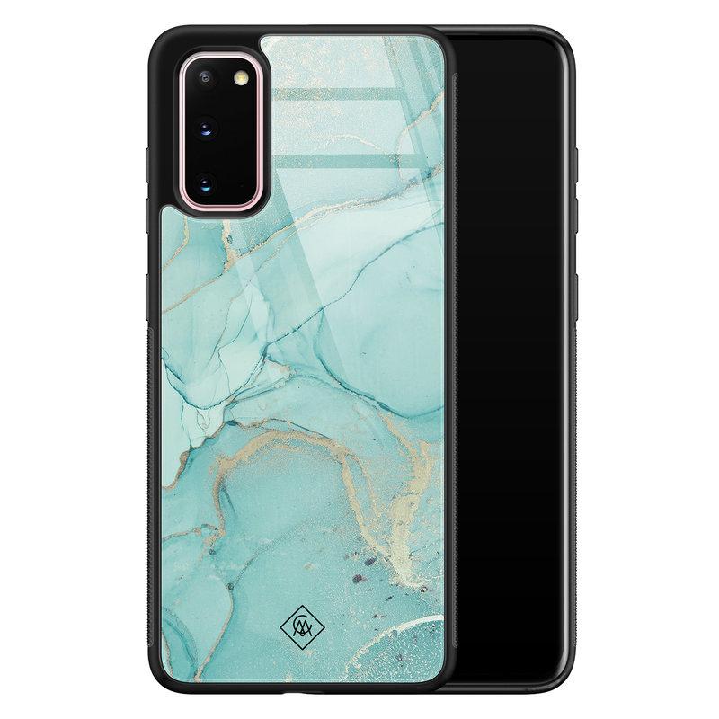 Casimoda Samsung Galaxy S20 glazen hardcase - Touch of mint
