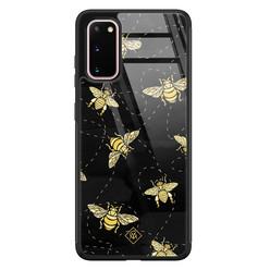 Casimoda Samsung Galaxy S20 glazen hardcase - Bee yourself