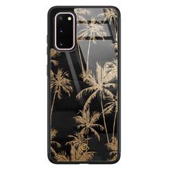 Casimoda Samsung Galaxy S20 glazen hardcase - Palmbomen