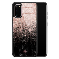 Casimoda Samsung Galaxy S20 glazen hardcase - Marmer twist