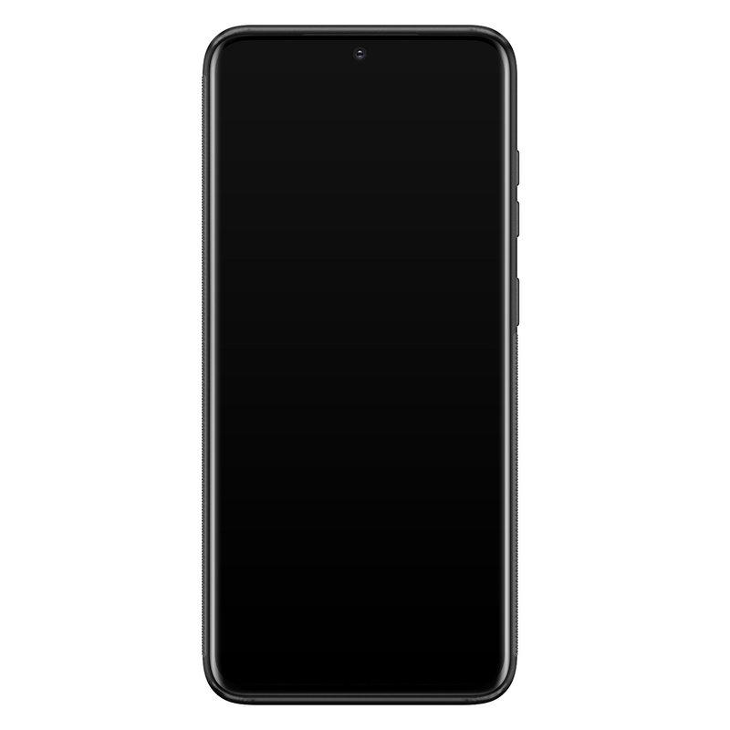 Casimoda Samsung Galaxy S20 glazen hardcase - Marmer zwart oranje