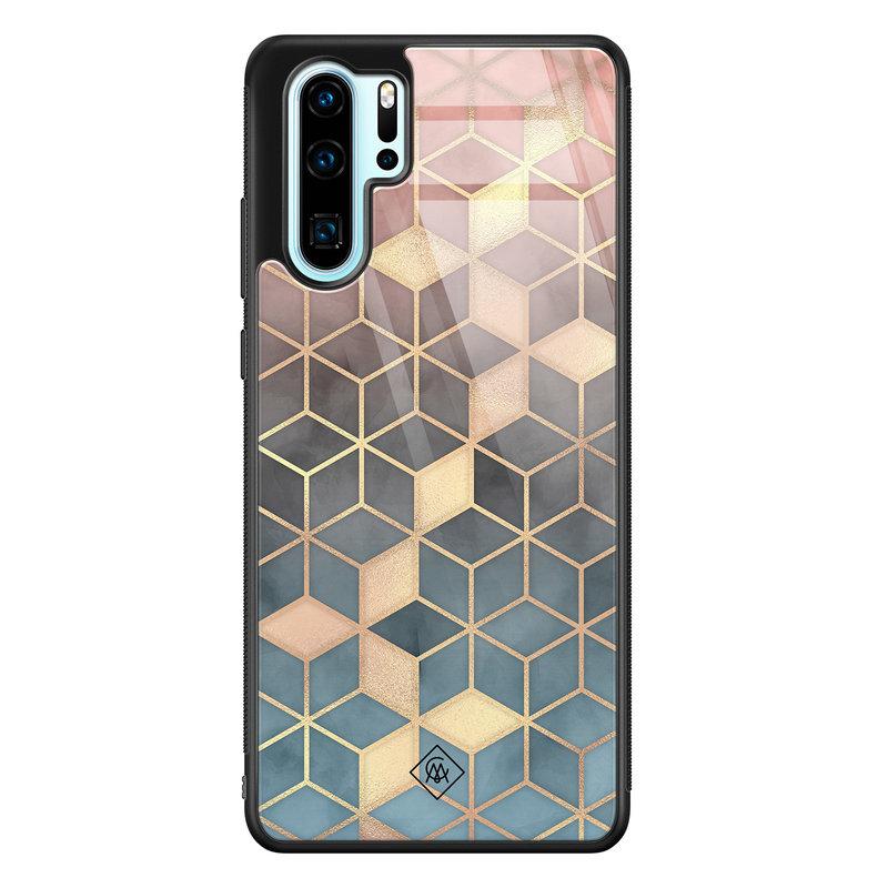 Casimoda Huawei P30 Pro glazen hardcase - Cubes art
