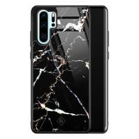 Casimoda Huawei P30 Pro glazen hardcase - Marmer zwart