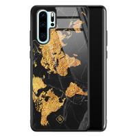 Casimoda Huawei P30 Pro glazen hardcase - Wereldkaart