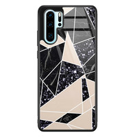Casimoda Huawei P30 Pro glazen hardcase - Abstract painted