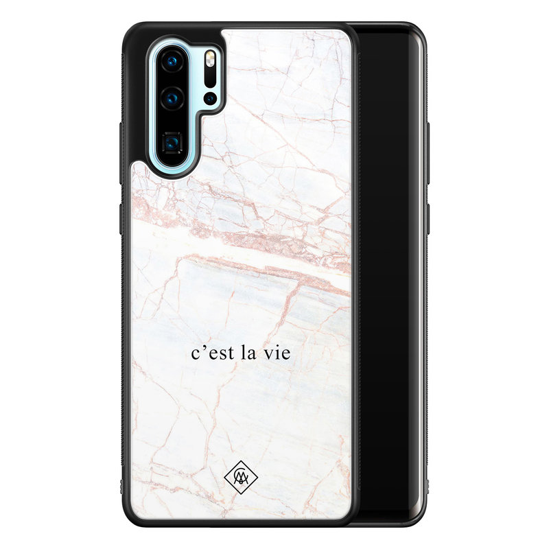 Casimoda Huawei P30 Pro glazen hardcase - C'est la vie