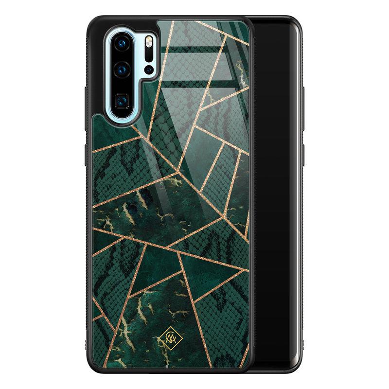 Casimoda Huawei P30 Pro glazen hardcase - Abstract groen