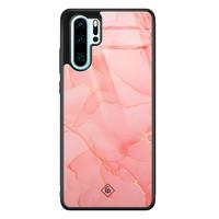 Casimoda Huawei P30 Pro glazen hardcase - Marmer roze