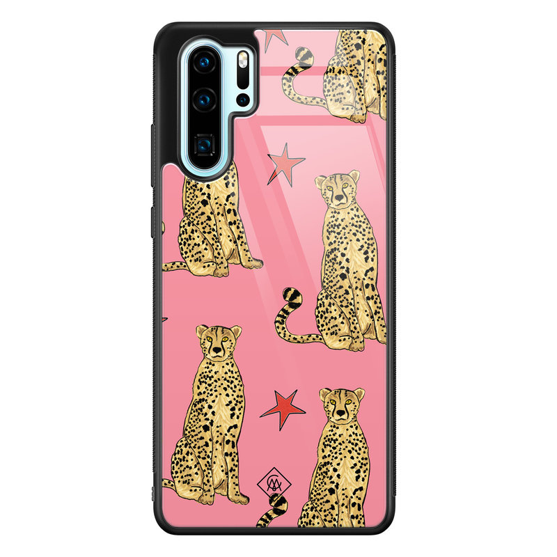 Casimoda Huawei P30 Pro glazen hardcase - The pink leopard