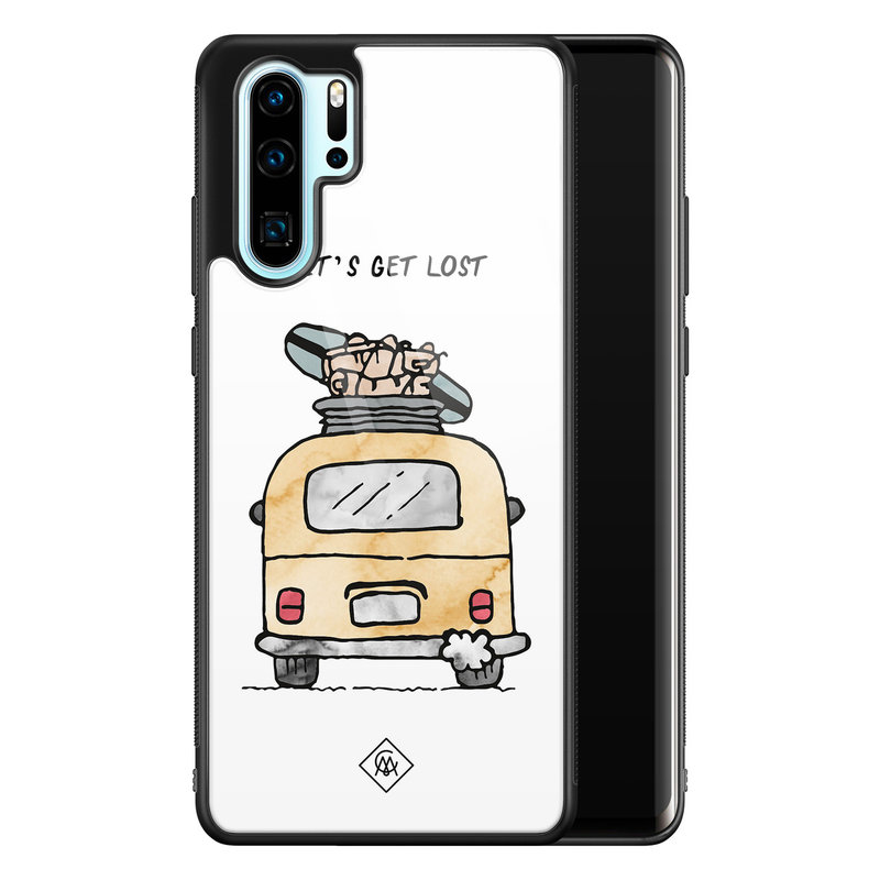 Casimoda Huawei P30 Pro glazen hardcase - Let's get lost