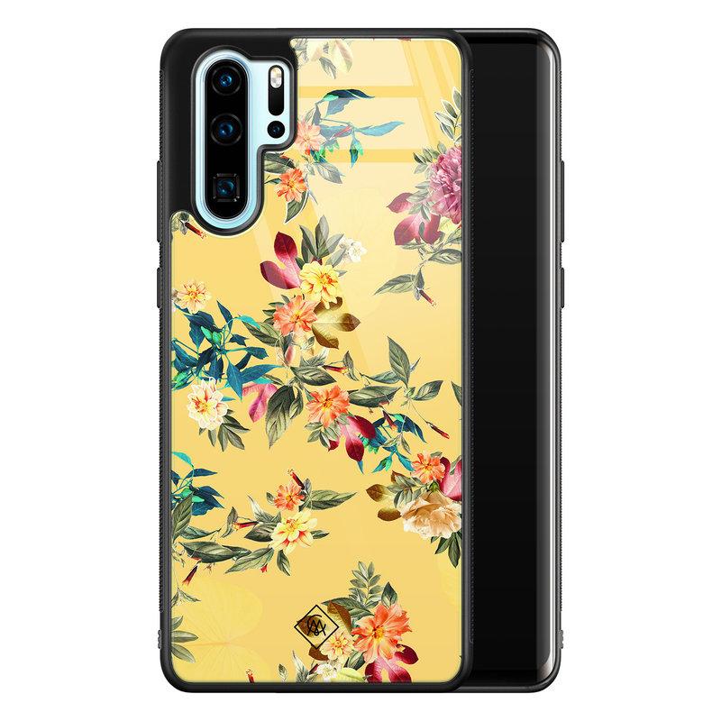 Casimoda Huawei P30 Pro glazen hardcase - Florals for days