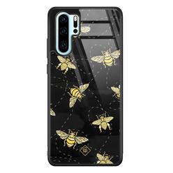 Casimoda Huawei P30 Pro glazen hardcase - Bee yourself