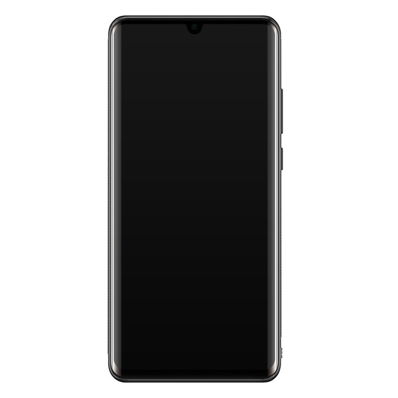 Casimoda Huawei P30 Pro glazen hardcase - Luipaard grijs