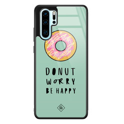 Casimoda Huawei P30 Pro glazen hardcase - Donut worry