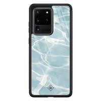 Casimoda Samsung Galaxy S20 Ultra glazen hardcase - Oceaan