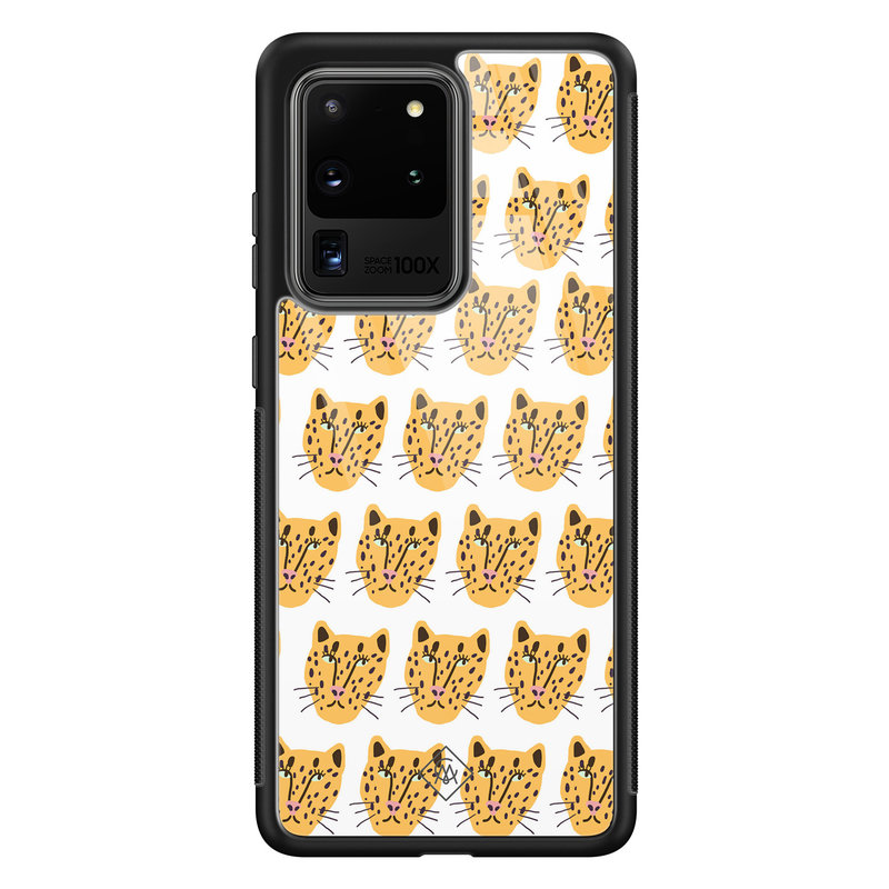 Casimoda Samsung Galaxy S20 Ultra glazen hardcase - Got my leopard