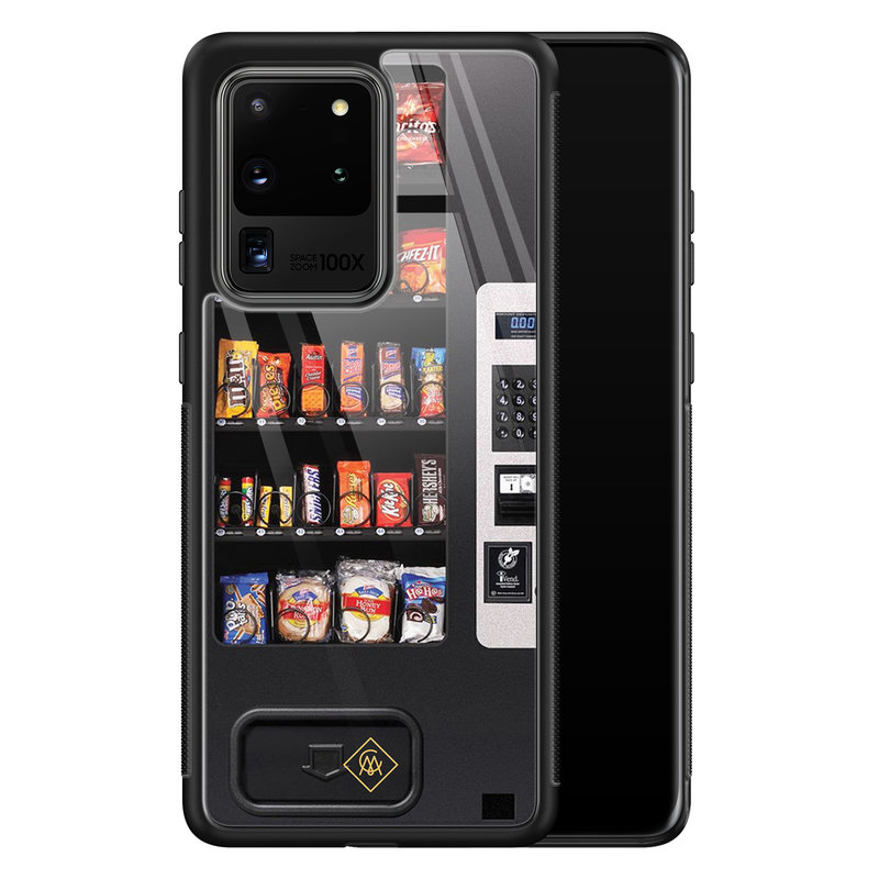 Casimoda Samsung Galaxy S20 Ultra glazen hardcase - Snoepautomaat