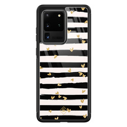 Casimoda Samsung Galaxy S20 Ultra glazen hardcase - Hart streepjes