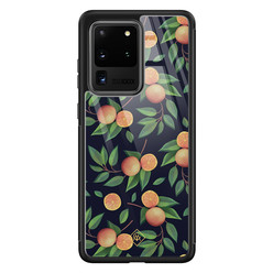 Casimoda Samsung Galaxy S20 Ultra glazen hardcase - Orange lemonade