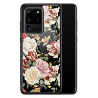 Casimoda Samsung Galaxy S20 Ultra glazen hardcase - Flowerpower