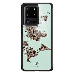 Casimoda Samsung Galaxy S20 Ultra glazen hardcase - Wild world