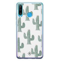 Casimoda Huawei P30 Lite siliconen telefoonhoesje - Cactus print
