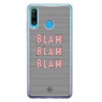 Casimoda Huawei P30 Lite siliconen telefoonhoesje - Blah blah blah