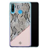 Casimoda Huawei P30 Lite siliconen hoesje - Snake print