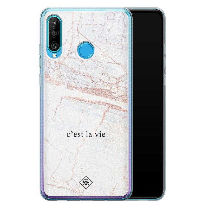 Casimoda Huawei P30 Lite siliconen telefoonhoesje - C'est la vie