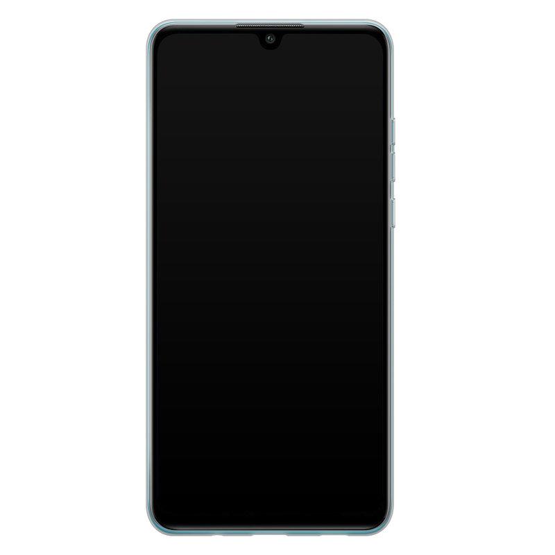 Casimoda Huawei P30 Lite siliconen telefoonhoesje - Palm leaves silhouette