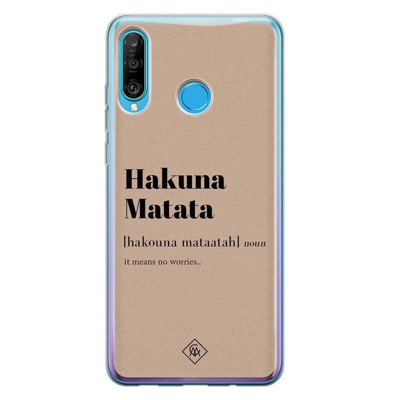 Casimoda Huawei P30 Lite siliconen hoesje - Hakuna matata