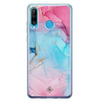 Casimoda Huawei P30 Lite siliconen hoesje - Marble colorbomb