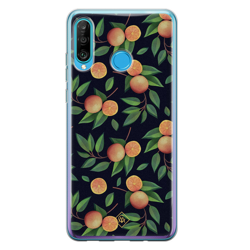 Casimoda Huawei P30 Lite siliconen hoesje - Orange lemonade