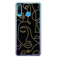 Casimoda Huawei P30 Lite siliconen hoesje - Abstract faces