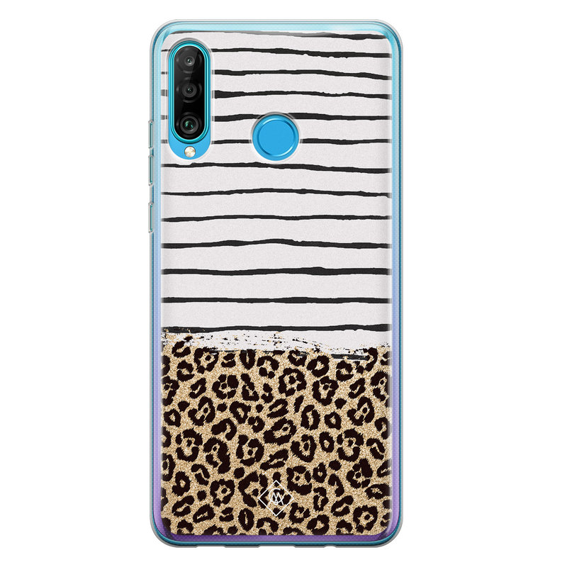 Casimoda Huawei P30 Lite siliconen telefoonhoesje - Leopard lines