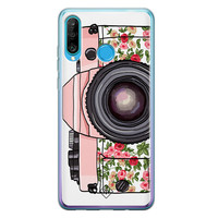 Casimoda Huawei P30 Lite siliconen telefoonhoesje - Hippie camera